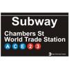 World Trade Center Replica Subway Sign