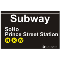 Replica SOHO Subway Sign