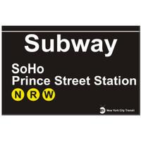 Replica SOHO Subway Sign