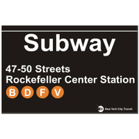 Rockefeller Subway Sign
