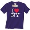 Purple I Love NY T-Shirts with the I Heart NY logo in this New York City souvenir.