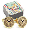 Gold Token NYC Subway Cufflinks