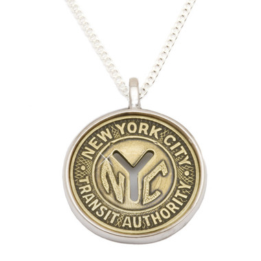 Silver Token Charm NYC Subway Pendant