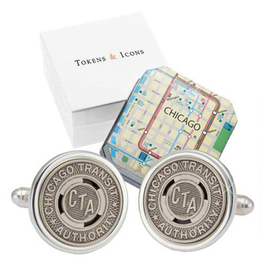 'El' Token Chicago Cufflinks