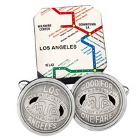 Transit Token Los Angeles Cufflinks