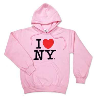 Pink I Love NY Sweatshirt and Hoodie