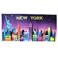New York City Skyline Beach Towel and Bath