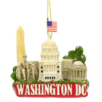 Washington DC Skyline Landmarks Christmas Ornament