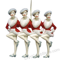 Rockette Kickline Ornament