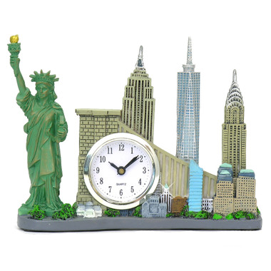 Souvenir New York City  clock famous landmarks