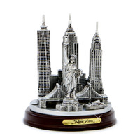 New York City replica model souvenirs with Statue of Liberty and Freedom Tower