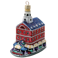 Boston's Faneuil Hall Christmas Ornament Glass