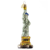 Statue of Liberty Christmas Ornament Glass