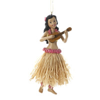 Hawaiian Hula Dancer Ornaments