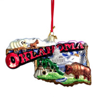 Oklahoma Ornament Glass