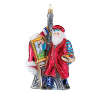 Polonaise French Santa Santa Ornament Glass