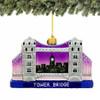 London Tower Bridge Christmas Ornament - Glass