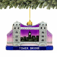 London Tower Bridge Christmas Ornament - Glass