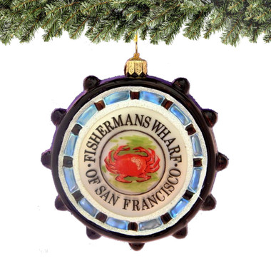 Glass Fisherman's Wharf Ornament