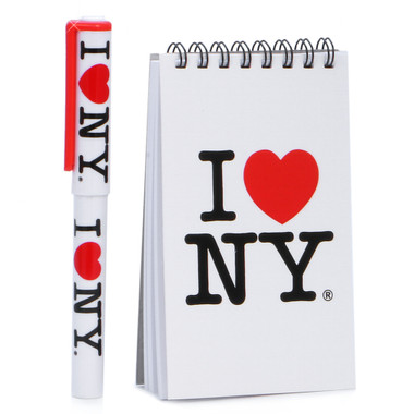 I Love NY Note Pad and Pen Set