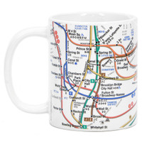 White NYC Subway Lines Coffee Mug, 11oz mug