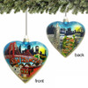 San Francisco Christmas Ornament, Heart