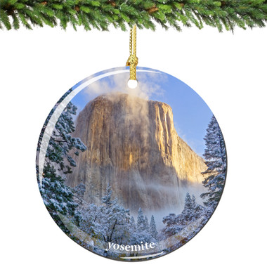 Yosemite National Park Porcelain Christmas Ornament, El Capitan