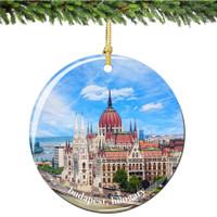 Budapest Porcelain Christmas Ornament