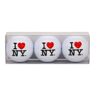 I Love NY Golf Ball Set of 3