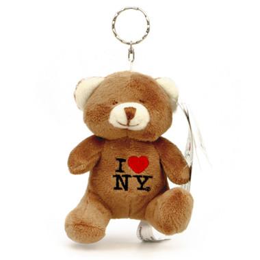 Stuffed I Love NY Teddy Bear Keychain