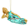 Reclining Buddha Glass Christmas Ornament