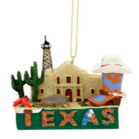 Texas Landmarks Christmas Ornament