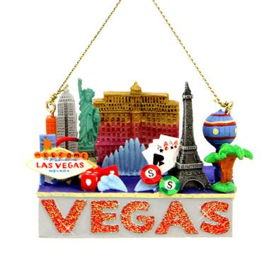 Las Vegas Landmarks Christmas Ornament