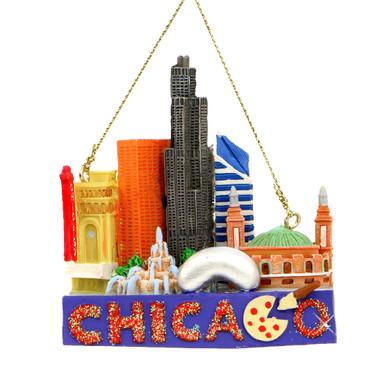 Chicago Landmarks Christmas Ornament