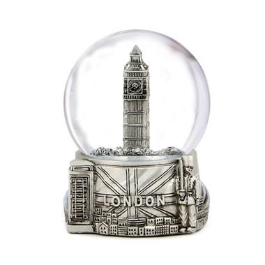 Silver London Snow Globe