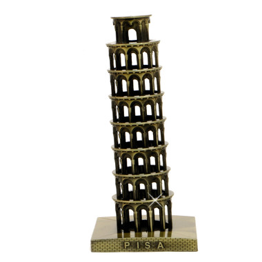 Bronze Leaning Tower of Pisa Statue