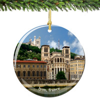 Lyon France Christmas Ornament Porcelain