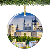 Madrid Spain Christmas Ornament Porcelain