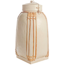 NASI Bamboo Storage Container, White, Large