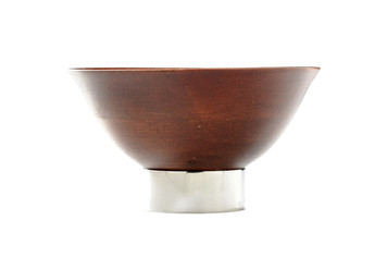 KIRU Mango Wood Bowl with Nickel Stand