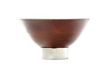 KIRU Mango Wood Bowl with Nickel Stand