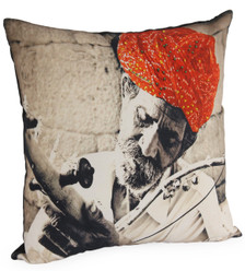 MUSIC Photographic Embroidered Pillow