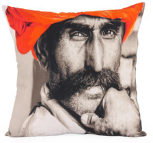 SURATA Photographic Embroidered Pillow