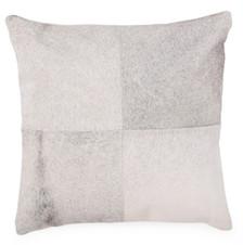 BURRO Grey Cow Hide Pillow