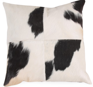 KUH Black&White Cow Hide Pillow