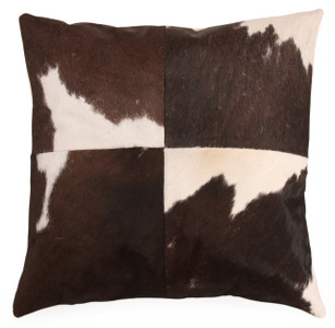 VACHE Brown Cow Hide Pillow
