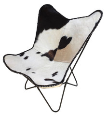 LORD Butterfly chair in black & white cowhide