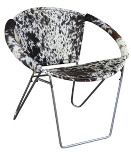 ULLA black & white cow hide armchair