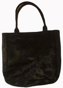 Luxurious Bag GRACE in Black Cowhide