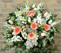 Medium size tribute flower basket $95